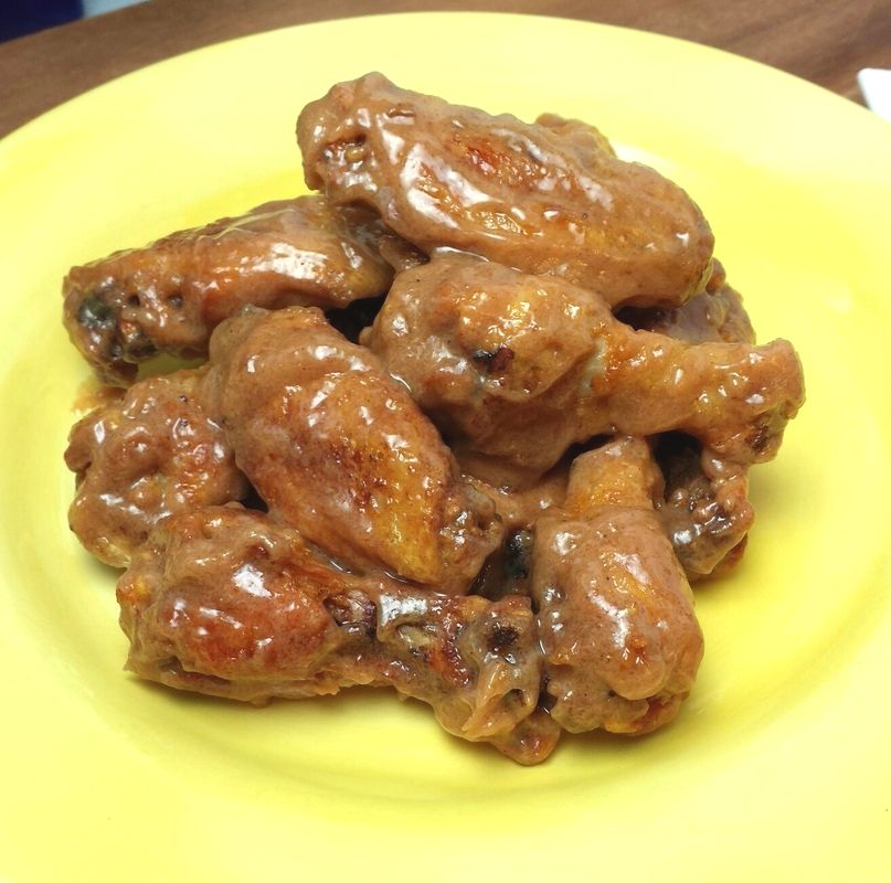 Peanut Butter and Hot Pepper Jelly Wings