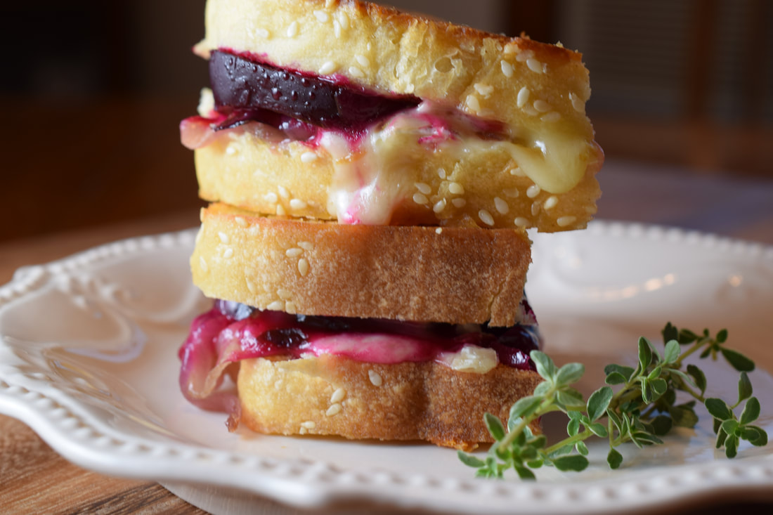 Roasted Beet Grilled Cheese